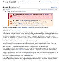 Risque (informatique)