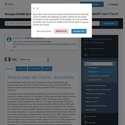 Risque pays de l'Italie : Economie