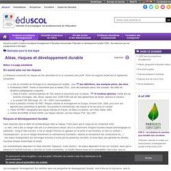 2nd degré - Aléas, risques et développement durable