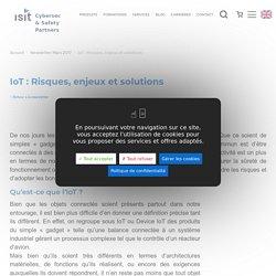 IoT : Risques, enjeux et solutions ISIT