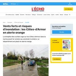 Vents forts et risques d'inondation : les Côtes-d'Armor en alerte orange