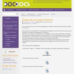 Risques liés aux usages d'Internet - Doc pour docs