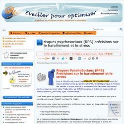 risques psychosociaux (RPS)