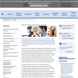 Risques psychosociaux et stress au travail - Santé et sécurité au travail — EU-OSHA