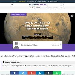 Voyage vers Mars : les risques pour la santé seraient nombreux