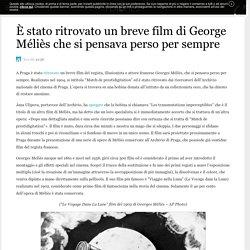 È stato ritrovato un breve film di George Méliès che si pensava perso per sempre