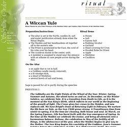 RITUAL: Wiccan Yule