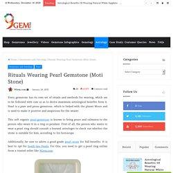 Rituals Wearing Pearl Gemstone (Moti)