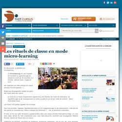 Les rituels de classe en mode micro-learning
