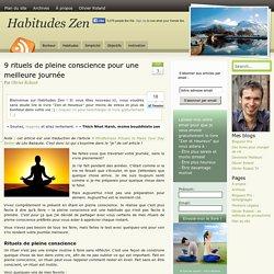 9 rituels de pleine conscience pour une meilleure journée