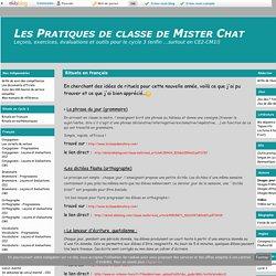 Rituels en français - Les Pratiques de classe de Mister Chat