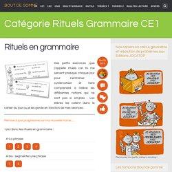 Rituels Grammaire CE1