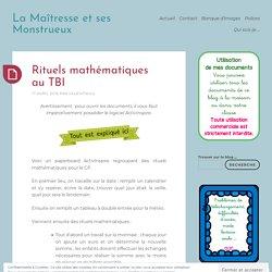 Rituels mathématiques au TBI
