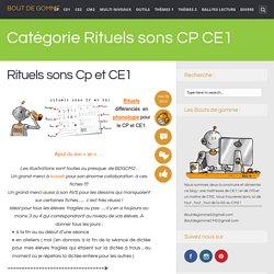 Rituels sons CP CE1