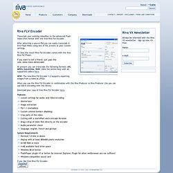 Riva VX: Riva FLV Encoder