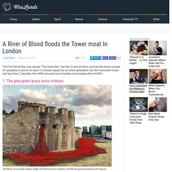 A River of Blood floods the Tower moat In London