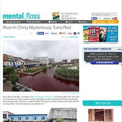 River In China Mysteriously Turns Red