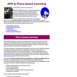 Old Man River Project: GPS and Place-based Learning