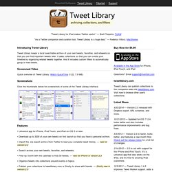Software - Tweet Library