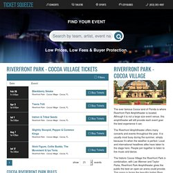 Cocoa Riverfront Park Amphitheater Tickets