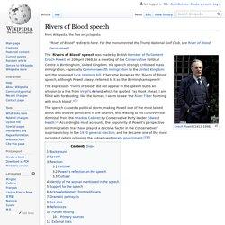 Rivers of Blood speech