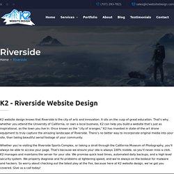 K2 - Riverside Website Design / SEO / WordPress / Hosting