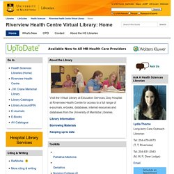 Riverview Library Research Guide (University of Manitoba Libraries)