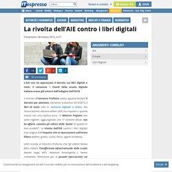 La rivolta dell'AIE contro i libri digitali
