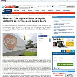 02-09-2014 incident sanitaire usine BELGIQUE
