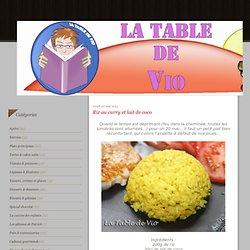 Riz au curry et lait de coco - La table de Vio