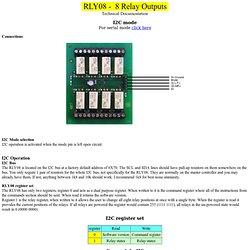 RLY08 I2C Mode