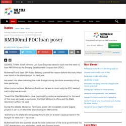 RM100mil PDC loan poser