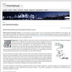 UCSF: RNA bioinformatics