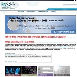 Réseau National des Systèmes Complexes : home