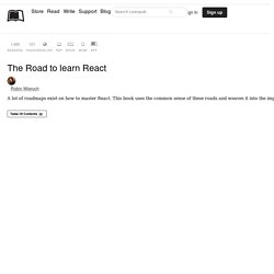 Road to learn React by Robin Wieruch