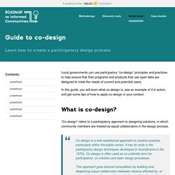 Guide to co-design — Roadmap to Informed Communities