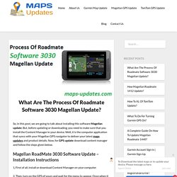What Are The Process Of Roadmate Software 3030 Magellan Update?