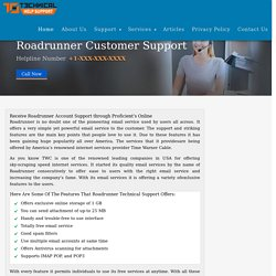 Roadrunner Customer Service Help Desk and Tech Support
