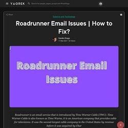 Roadrunner Email Issues