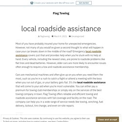 local roadside assistance – Flag Towing
