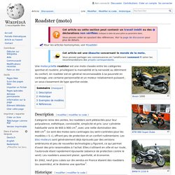 Roadster (moto)