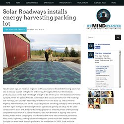 Solar Roadways installs energy harvesting parking lot