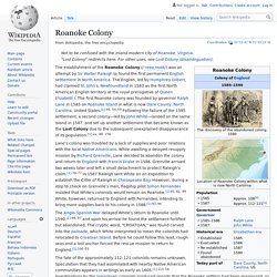 Roanoke Colony - Wikipedia