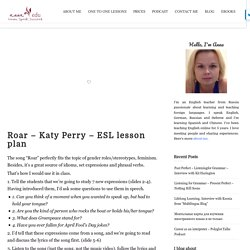 Roar – Katy Perry – ESL lesson plan