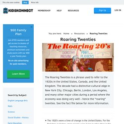 Roaring Twenties and Information for Kids