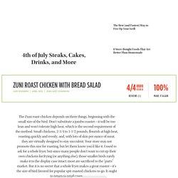 Zuni Roast Chicken with Bread Salad recipe
