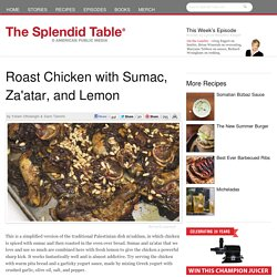 Roast Chicken with Sumac, Za'atar, and Lemon