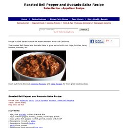 Roasted Bell Pepper and Avocado Salsa, How To Make Roasted Pepper and Avocado Salsa, Salsa Recipes, Roasted Bell Pepper Recipes, Appetizer Recipes