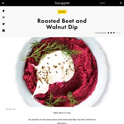 Roasted Beet and Walnut Dip Recipe