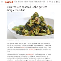 This roasted broccoli is the perfect simple side dish